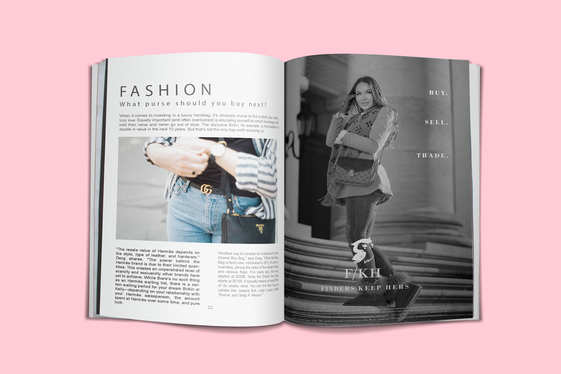 Print advertising for fashion boutique