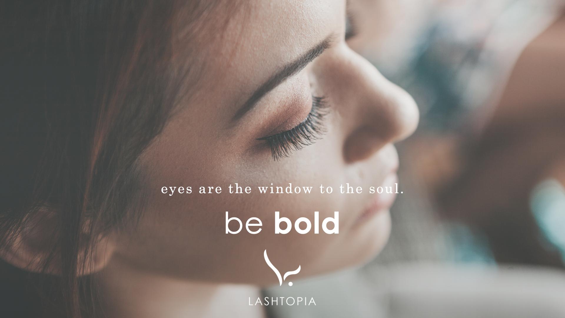 Lashtopia eyelash boutique logo and branding project